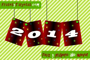 Tarjeta de feliz año nuevo para compartir 2014