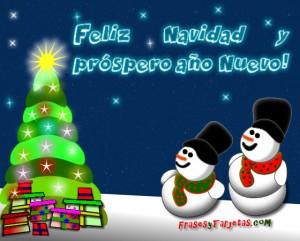 Arbol de Navidad y Muñecos de Nieve