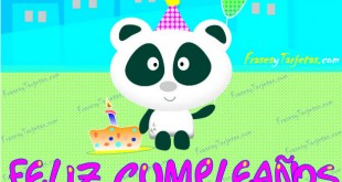 Tarjeta de cumpleaños oso panda para enviar