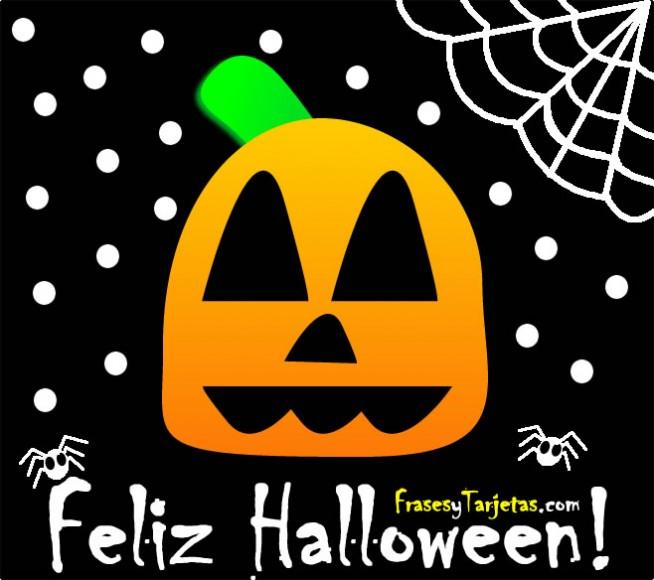 frases y tarjetas de feliz halloween calabaza