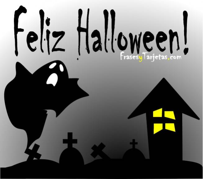 frases y tarjetas de feliz halloween fantasma