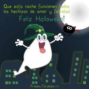 Feliz Halloween con mensaje tierno