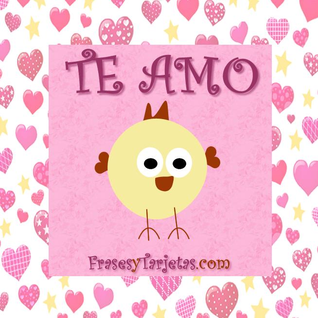 Tarjeta de San Valentin - Pollito Tierno | frasesytarjetas.com
