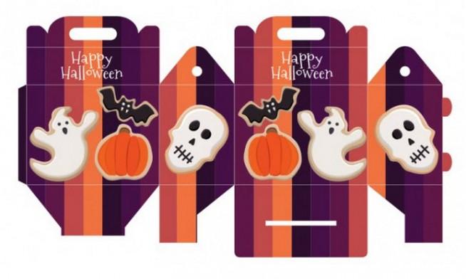 cajitas sorpresa para halloween fantasma y calavera