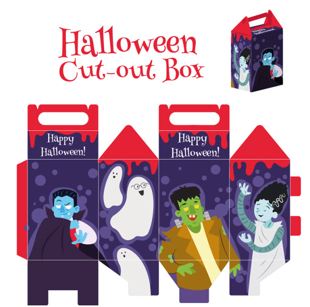 Cajitas sorpresa para halloween vampiro