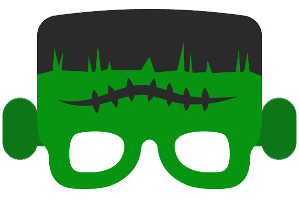 Mascara de Frankenstein para Halloween