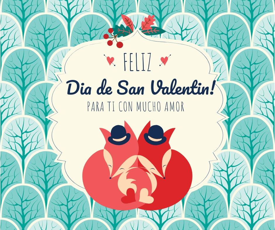 tarjeta con frase de san valentin y de amor
